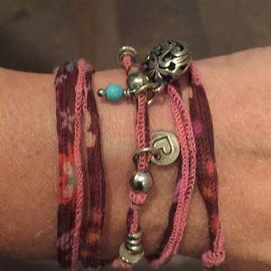Johnny Was/Lapis Silk Wrap Bracelet